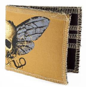 the flying skull wallet