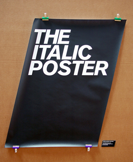 Funny, the italic poster